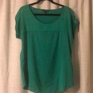 Emerald green Express blouse